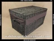 Wiklinowy kufer 60 cm wenge skrzynia kosz wiklina