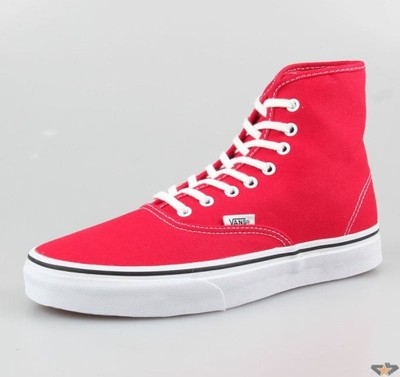 7eec4d1f36 Vans Authentic Hi - True Red (EUR 40