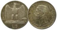 28.WŁOCHY, VITT.EMANUEL III, 5 LIRÓW 1929