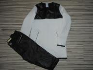 pikowana tunika i a la skórzane spodnie r.122/128