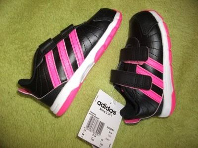 Buty dziecięce Adidas czarno różowe 4. 22 UK 5,5K