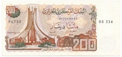 SNMW Algieria 200 dinarów 1983 st.2