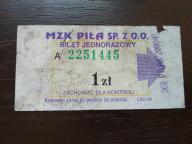 bilet u99 Piła CZG SA rew. lider