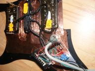 Pickguard HSH z 4 żyłowymi HMV rozdzielone cewki