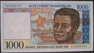 Madagaskar - 1000 franków - 1994 - stan UNC