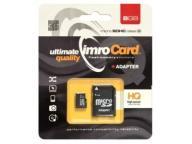 KARTA microSD IMRO 8GB CLASS 10 UHS-1 + SD POLSKI