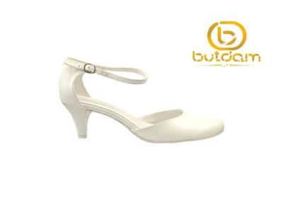 0aceb0f4 Buty ślubne niskie głaskie lato białe-BUTDAM r.38 - 6803661052 ...