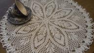 serweta szydełkowa serwetka obrus 43cm