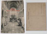 Stara pocztówka, Malines - wnętrze kościoła