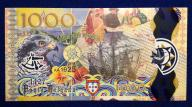 Portugalia 1000 Escudos 2017 r. 296/11