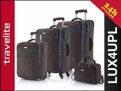 7639b61761dd9 TRAVELITE Zestaw walizek + torba pokładowa walizki - 5175632943 ...