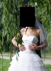 3f1320d5d4 suknia ślubna w stylu hiszpańskim + welon - 5662484236 - oficjalne ...