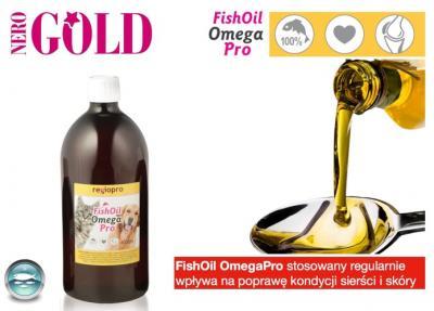 Olej z łososia na sierść dla psa i kota 500 ml