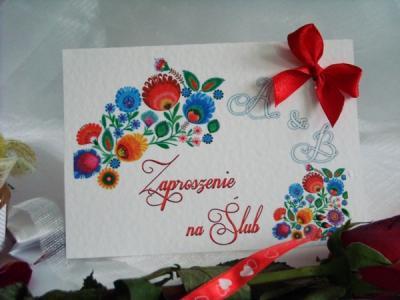 Zaproszenia Na ślub Folk Ludowe Promocja Szybko 5531586082