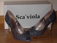 Sca` viola szpilki czółenka sandały skóra 38