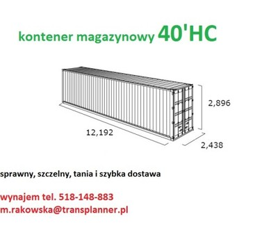 Bardzo dobry KONTENER MORSKI - 6920627469 - oficjalne archiwum allegro FL79