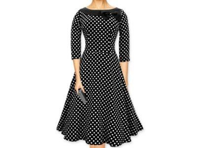 091c33e5d0 Sukienka vintage BLACK BUTTERFLY groszki M 38 - 6624634837 ...