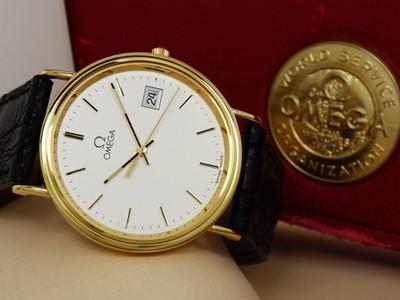zegarek omega quartz złoty