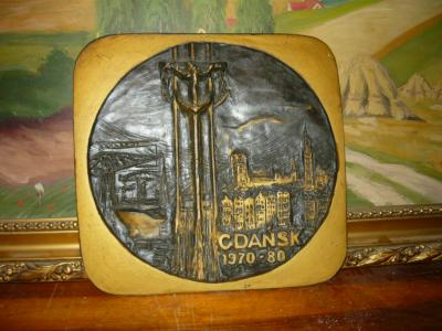 Płaskorzeźba gipsowa Gdańsk 1970-1980