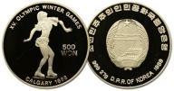 20.KOREA PÓŁNOCNA, 500 WON 1989 CALGARY '88