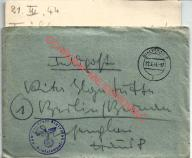 Białystok, poczta polowa, feldpost. Lazarett. 1944