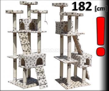 HIT Drapak dla kota domek legowisko 182 [cm]  D-08