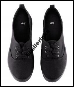 H&M buty trampki tenisówki czarne r. 38
