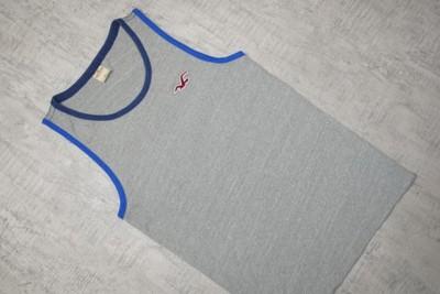 HOLLISTER__szara koszulka__logo__M/L_