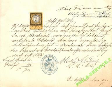 Revenue dokument notarialny Weidenau in Schlesien