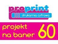 PROJEKT BANERA REKLAMOWEGO - PROFESJONALNIE OP60