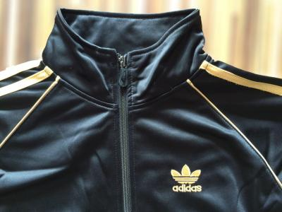 Bluza ADIDAS czarna złota rozpinana