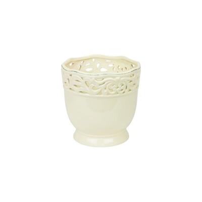 Doniczka Ceramiczna Lisbon Ażur 13cm Krem Pol 6839977244