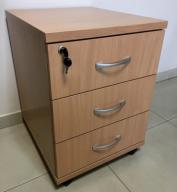 Kontenerek biurowy 43x50x76cm na kółkach / z wnęką