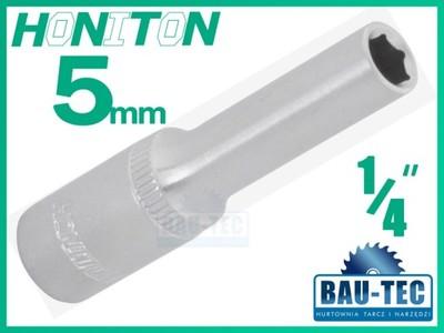 NASADKA 5mm DŁUGA HONITON 1/4'' Cr-V 6-kątna