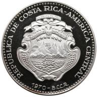 KOSTARYKA - COSTA RICA 25 COLONES 54 gramy! Ag 999