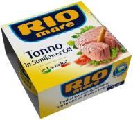 RIO MARE 160g TUŃCZYK W OLEJU SŁONECZNIKOWYM HIT