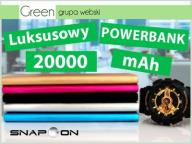 Pojemny Powerbank 20000mAh do Telefonu Smartfona