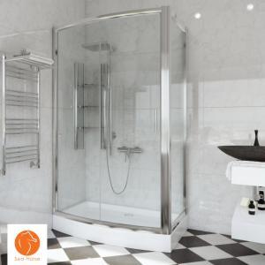 Kabina Prysznicowa Narożna 120x90 Półki Brodzik
