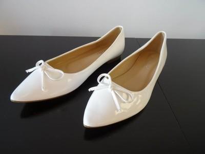 bb76be45aa Buty baleriny białe rozmiar 37 - 6793600362 - oficjalne archiwum allegro