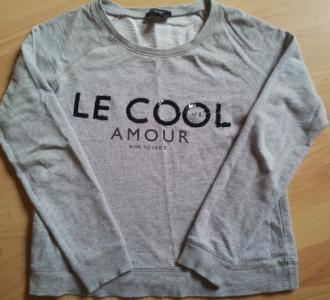 MANGO LE  COOL AMOUR PARIS szara Bluza 36 /s