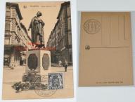Stara pocztówka- Bruxelles, Statue Gabrielle Petit