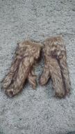 Rękawiczki futrzane futro jeden palec ciepłe