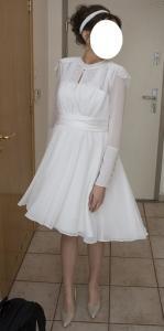 Prześlicznaelegancka Ciążowa Suknia ślubna Krótka 5597133894