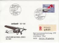 Lotnictwo, Szwajcaria, FDC