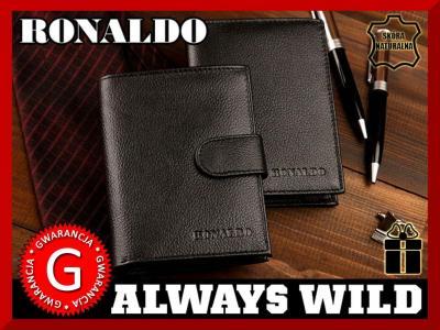 43f26ac0bd9a5 Skórzany KLASYCZNY męski PORTFEL Ronaldo NATURALNY - 5707256213 ...