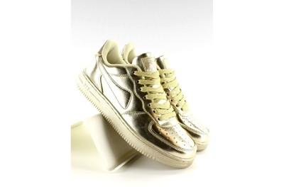 Sportowe Buty Crazy Colours B731 Złoty r.40