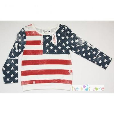Bluza z motywem flagi USA PRIMARK 2-3 lat 98 cm