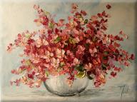 JUDIART obraz olejny bukiet kwiaty_Kwitnąca Wiśnia