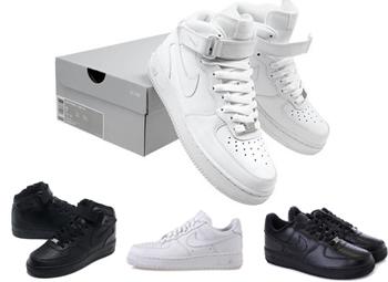 Buty Nike Air Force 1 MID 07 białeczarne roz. 41 Zdjęcie