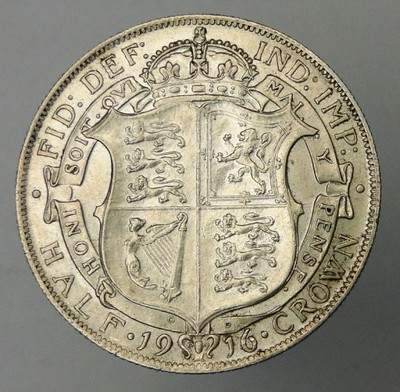 Wielka Brytania - 1/2 korony - 1916 - srebro